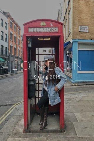 LONDON Spring 2018