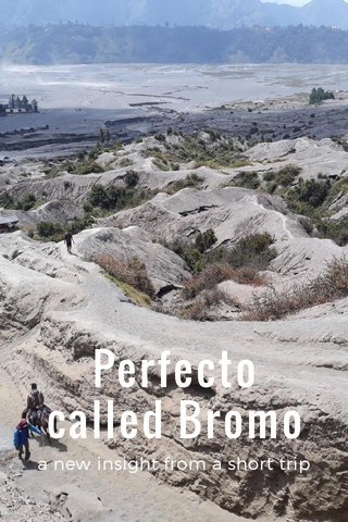 Perfecto called Bromo a new insight from a short trip