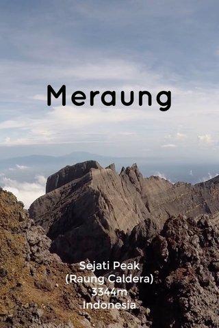Meraung Sejati Peak (Raung Caldera) 3344m Indonesia