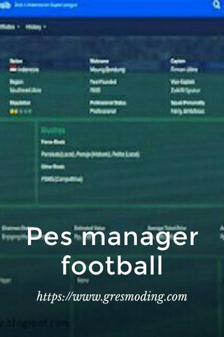 Pes manager football https://www.gresmoding.com