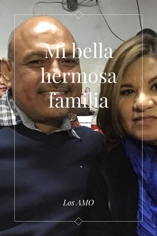 Mi bella hermosa familia Los AMO