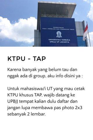 KTPU - TAP