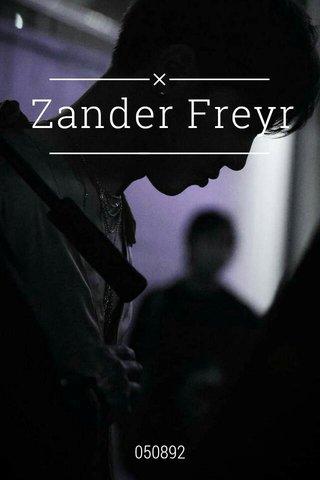 Zander Freyr 050892
