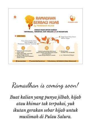 Ramadhan is coming soon!
