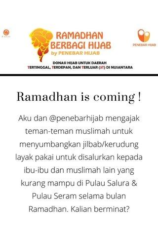 Ramadhan is coming !