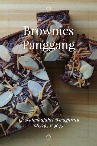 Brownies Panggang ig: @ahmadfahri @magfiratu 085795029645