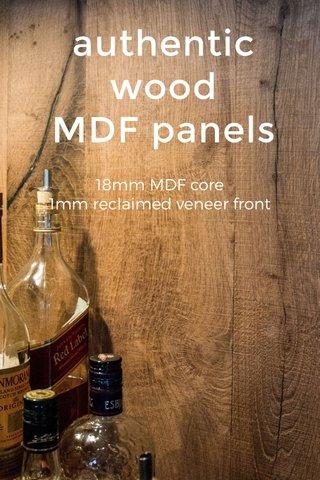 authentic wood MDF panels 18mm MDF core 1mm reclaimed veneer front