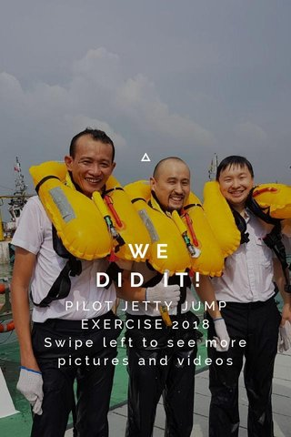 WE DID IT! PILOT JETTY JUMP EXERCISE 2018 Swipe left to see more pictures and videos