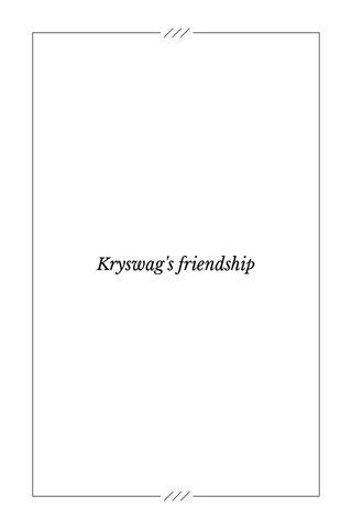 Kryswag's friendship