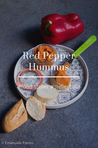Red Pepper Hummus #food steller #stelleritalia