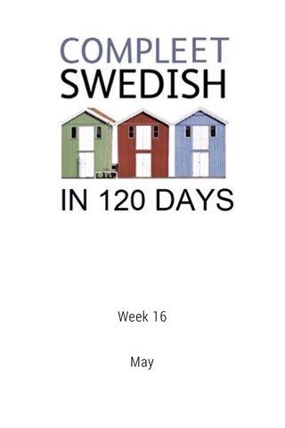 Week 16 May