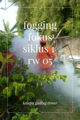 fogging fokus siklus 1 rw 05 kelapa gading timur