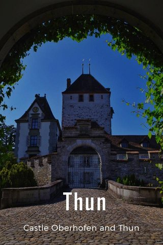 Thun Castle Oberhofen and Thun