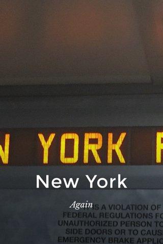 New York Again