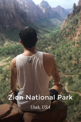 Zion National Park Utah, USA