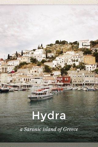 Hydra a Saronic island of Greece