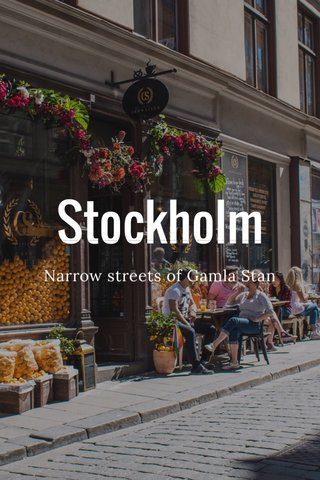 Stockholm Narrow streets of Gamla Stan