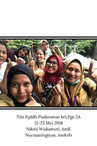 Tim Kpldh Puskesmas kel.Pgs 2A 21-25 Mei 2018 Nikmi Widiastuti, AmK Nurmaningtyas, AmKeb