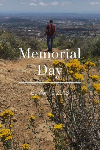 Memorial Day California 2018