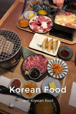 Korean Food real Korean food