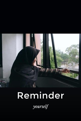 Reminder yourself