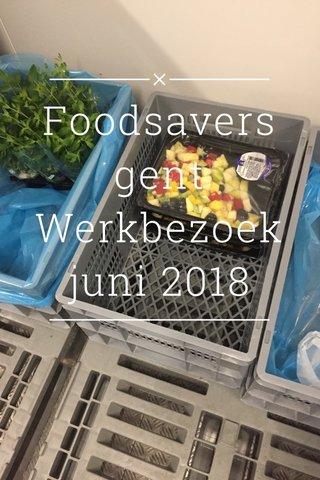 Foodsavers gent Werkbezoek juni 2018