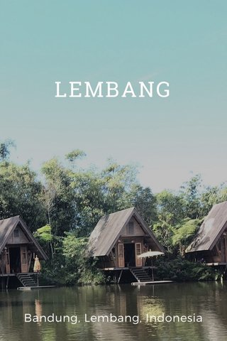 LEMBANG Bandung, Lembang, Indonesia