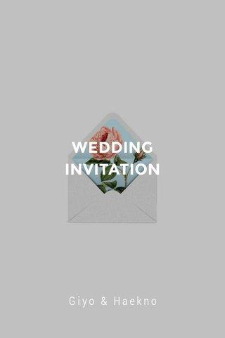 WEDDING INVITATION Giyo & Haekno