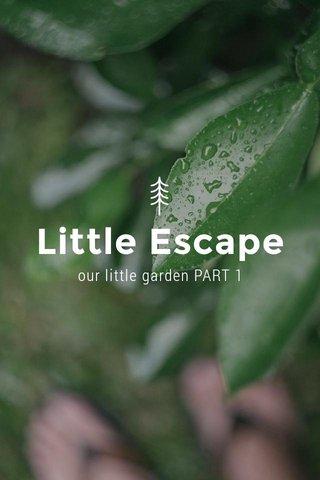 Little Escape our little garden PART 1