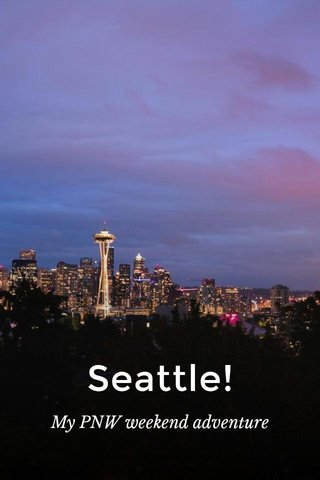 Seattle! My PNW weekend adventure