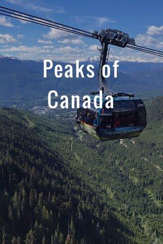 Peaks of Canada