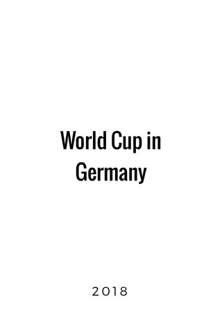 World Cup in Germany 2018