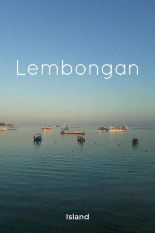 Lembongan Island