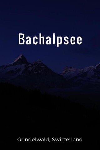 Bachalpsee Grindelwald, Switzerland