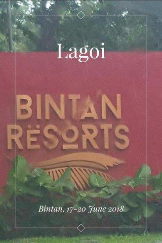 Lagoi Bintan, 17-20 June 2018