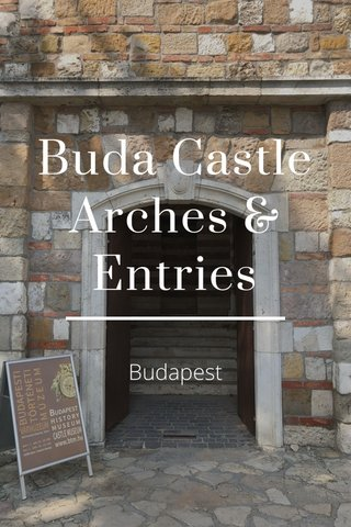 Buda Castle Arches & Entries Budapest