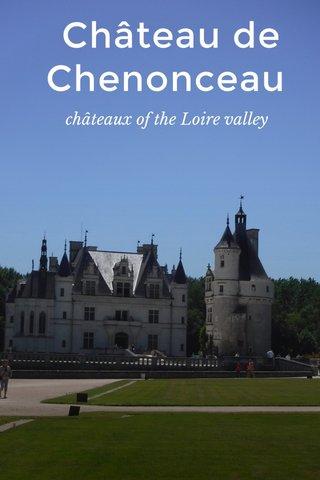 Château de Chenonceau châteaux of the Loire valley