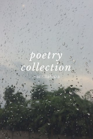 poetry collection —ancilladiska