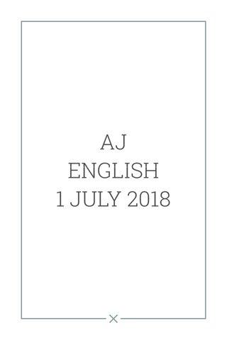 AJ ENGLISH 1 JULY 2018