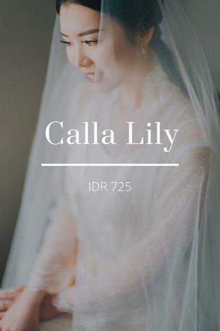 Calla Lily IDR 725