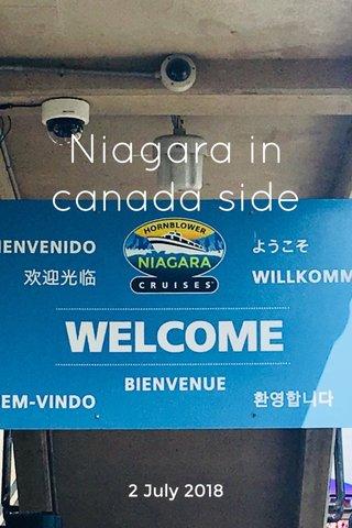 Niagara in canada side 2 July 2018