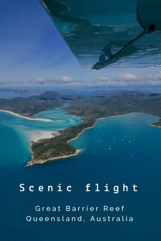 Scenic flight Great Barrier Reef Queensland, Australia