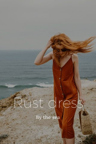 Rust dress By the sea