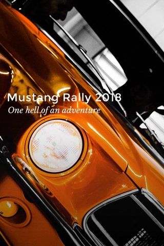 Mustang Rally 2018 One hell of an adventure