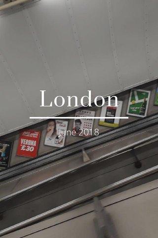 London June 2018