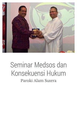Seminar Medsos dan Konsekuensi Hukum