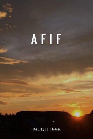 AFIF 19 JULI 1998