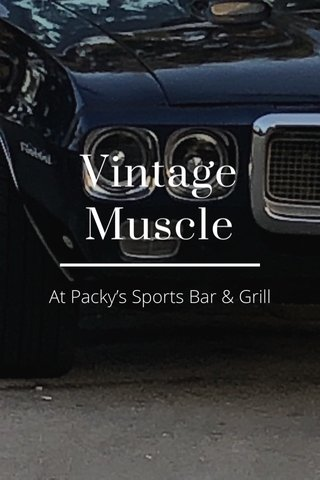 Vintage Muscle At Packy's Sports Bar & Grill