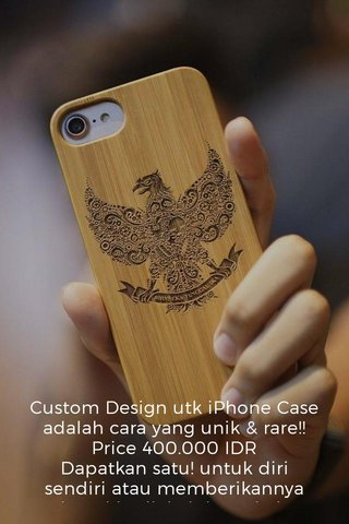Custom Design utk iPhone Case adalah cara yang unik & rare!! Price 400.000 IDR Dapatkan satu! untuk diri sendiri atau memberikannya sebagai hadiah, ini pasti akan kelihatan cantik dan style. Kayu itu indah dengan sentuhan peribadi anda. . . . . . . . Kayu Engraved iphone case * Custom iPhone Case samsung * Sesuai dengan iPhone 5 / 5s / SE | 6 / 6s | 6plus / 6splus | 7 / 7plus WhatsApp now !! #appledesign#iphone8#teamapple#iphone8plus#imacpro#androidonly#appleaddict#iphone7plus#iphone6s#androidographer#iphone7s#iphonex#iphone5s#style#applewatch#iphone7#iphone7plus#iphone8#iphone8plus#iphonered#iphoneindonesia#iphonesurabaya#jualiphonebekas#iphone7plusredproduct#jualiphonemurah#jualiphone7#jualiphone7plus#jualiphone7plusbekas#jualiophoneibox#iphonesurabaya#iphone7plusblackmatte#iphone7plusblack#iphoneblack