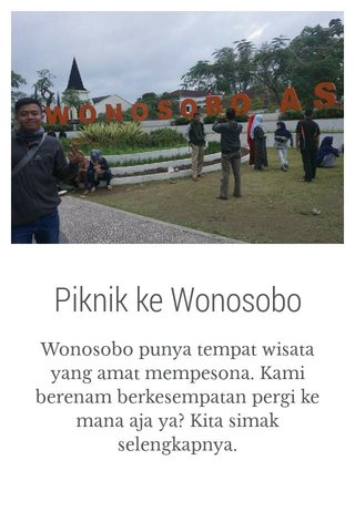 Piknik ke Wonosobo